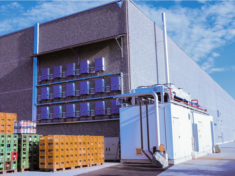 Das Blockheizkraftwerk im Burgenland beim Lagercenter Schlacher