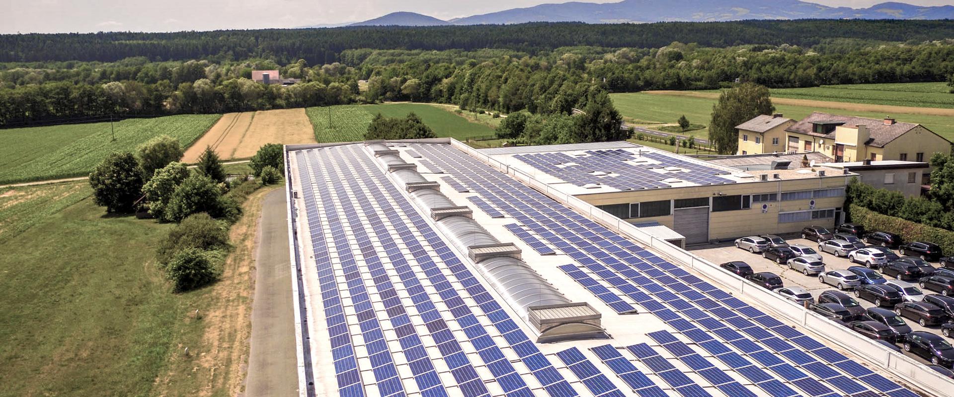 Grüne Energie im Lagercenter Schlacher in Markt Allhau